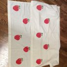 """Hand Crafted Hand Painted Cafe Apple Curtains 32x28"""""""