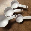 Set of 4 KitchenAid White Measuring Cups Heavy Duty