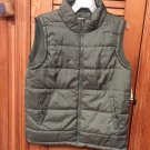 Open Trails Green Puffer Casual Vest Mens Large or Medium-( Pick Size)- NWT