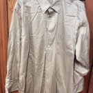 Izod Cotton Twill Long Sleeve Button Front Khaki Tan Shirt XL