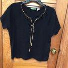 Onique Petite Black Casual Knit S/S Top PXL