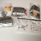 Set of 3 - Race Car-Helicopter-Motorcycle Small Metal Model Kits - NEW