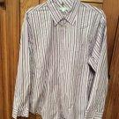 Geoffrey Beene Stripe L/S Dress Shirt XL 100% Cotton