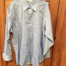 Geoffrey Beene L/S Blue Dress Shirt XXL 18 34/35
