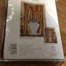 Set of 2 Ombre Burgundy Tasseled Waterfall Valance NEW
