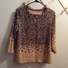 Talbots 3/4 Sleeve Cheeta Print Top Size Mp & S (Pick a Size)