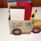 Recycled 1994 Campbell's Soup Truck for planter, desk accessory notepad holder etc