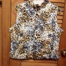 Ruby Rd. Petite Puffy Stretch Shiny Animal Print Vest PL