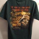Duck Dynasty Green T-Shirt Size Medium