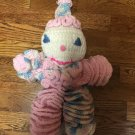 Vintage Hand Crafted Crocheted Unique Washable Multi-Colored Floppy  Baby Doll/Clown