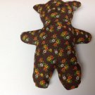 Primitive Hand Crafted Washable Stuffed Bear//Doll with Drawn on features