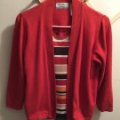 Alfred Dunner Rust Sweater w/Stripe Blouse 2 in 1 PXL