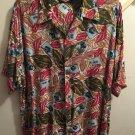 American Outpost Men's Short Sleeve Button Front Hawaiian Shirt XL