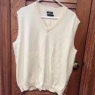 Ashworth Lightweight Sweater Vest Cream/Pale Yellow Size Large