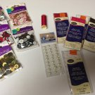 Lot of Buttons, Bias Tape, Rick Rack, Gems, Thread - New in Pkg