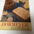 Dormeyer Electric Mix Treasures Vintage Cookbook Recipes 1949