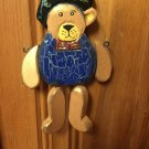Vintage Hanging Jointed Wooden Bear - 1998 - Ornament/Toy/Collectible/Keepsake