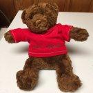 "Brown Plush 11"" Teddy Bear with Shirt ""Little Wranger"""