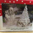 International Silver Company Christmas Tree and Santa Claus Salt and Pepper Set.