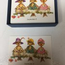 Carolyn Shores Wright Blank Note Cards - 3 Birds on a Limb - 14 Cards & Envelopes New