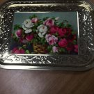 Vintage Roses Large Rectangular Tray Action-Lobeco Italy