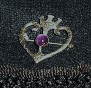 Scottish Amethyst Brooch