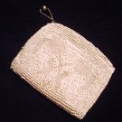 Vintage White Beaded Bag