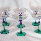 Party Mini Martini - Dessert Czech Handblown Glasses (6)