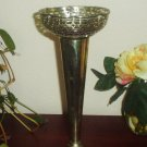 Victorian  Pierced Silver Plate Vase