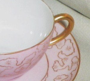 Antique Limoges Pink & Gold Cup and Saucer Pink & Pretty