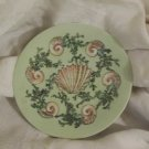 Antique Limoges  Small Plate Green with shell design