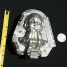 "Antique Chocolate Mold Girl  ""Polly on the Pot"""