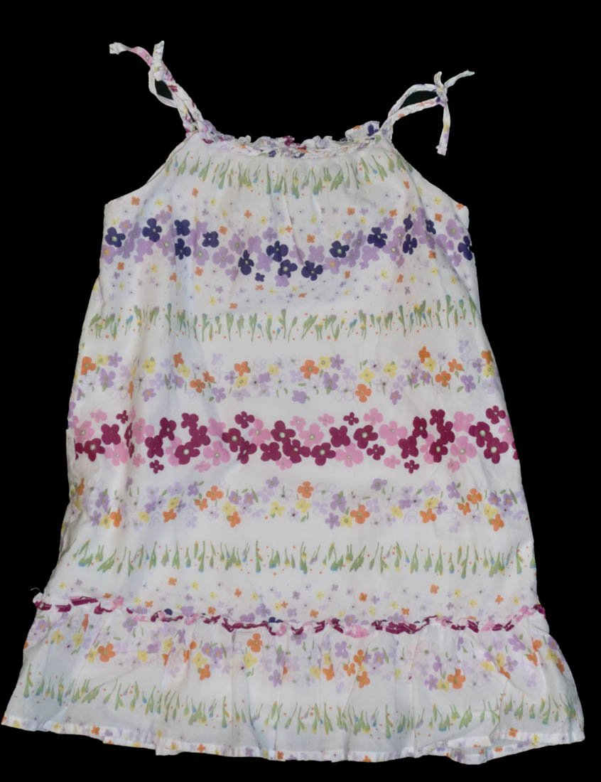 Baby Gap Toddler White Purple Pink Floral Sundress 3 3T