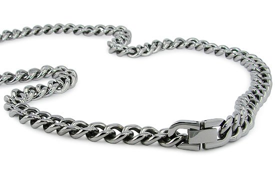 Stainless Steel Curb Link Necklace - N30008