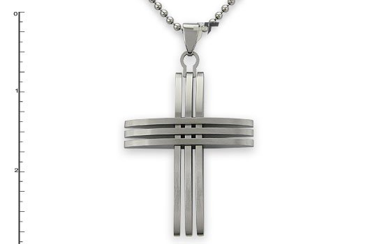 Stainless Steel Cross Pendant - P30009