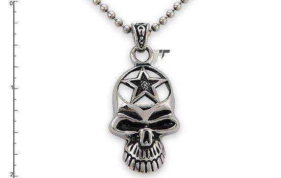 Stainless Steel Skull Pendant - P30112