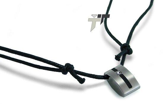 Stainless Steel CZ Pendant - P30123