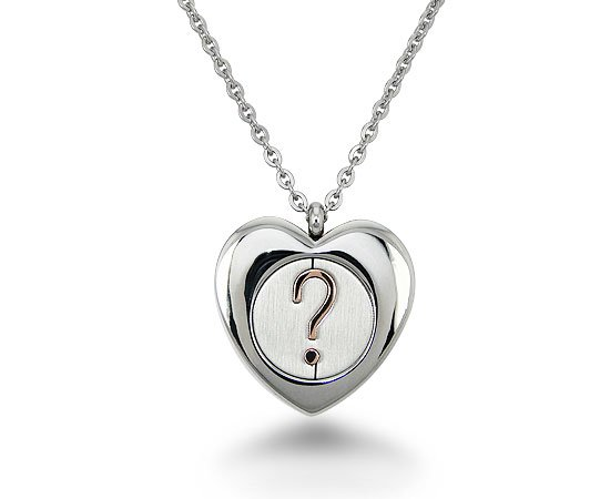 Stainless Steel Heart Necklace - P30152
