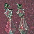 crystal drop earings
