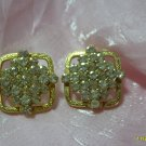 clear rinstone   clip on earings