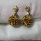 drop  clip on earings