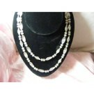 clear plastic beaded necklace