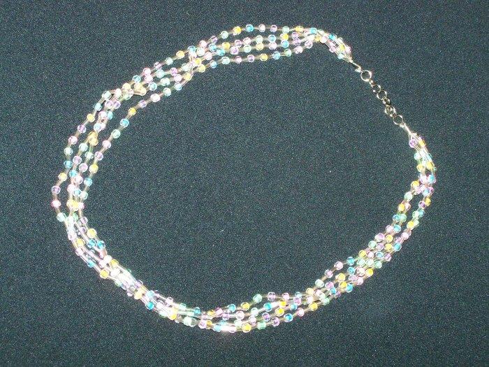 Neon Multi Strand Necklace