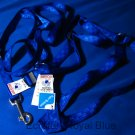 New rare blue dog harness and leash set vintage nylon