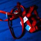 New rare red dog harness and leash set vintage nylon