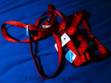 New rare red dog harness and leash set vintage nylon
