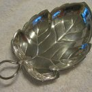 Small Sterling Leaf Plate