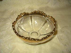 Vintage EAPG Gold Trimmed Berry Bowls-Set Of 6