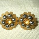 Vintage Kramer Goldtone Beaded Earrings