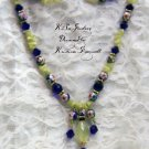 Royal Blues With A touch Sun necklace